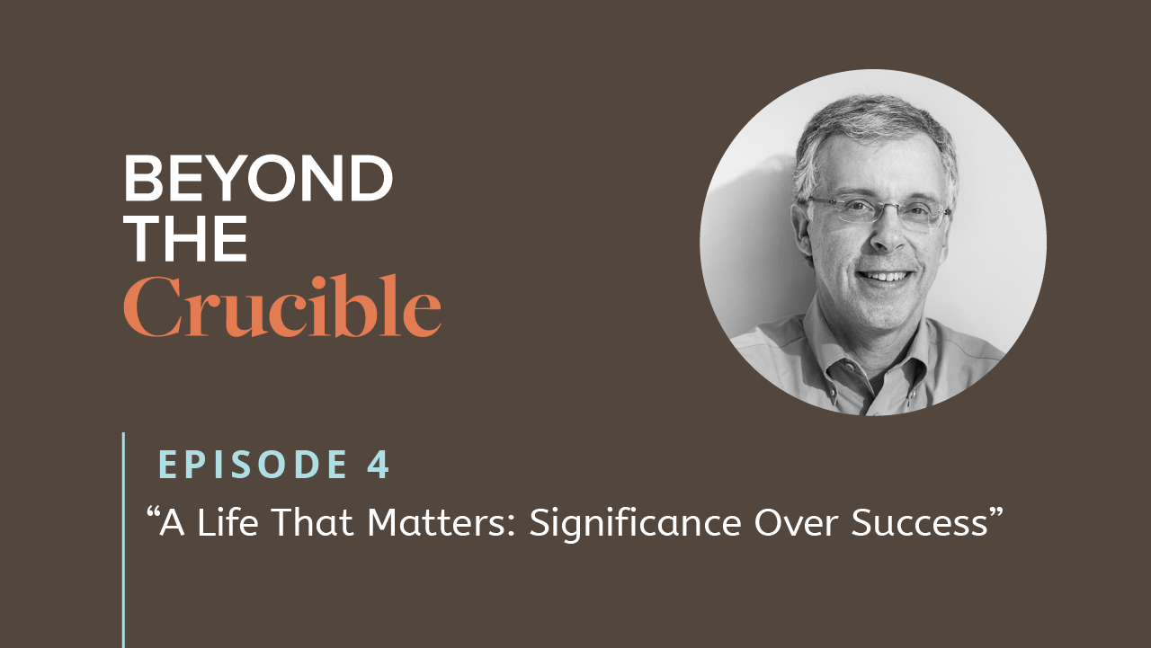 A life that matters: Significance over success
